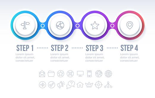 Four Option Circle Progress Infographic