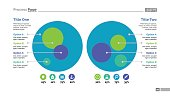 Four options process chart slide template. Business data. Circle, diagram. Creative concept for infographic, presentation. Can be used for topics like strategy, training.