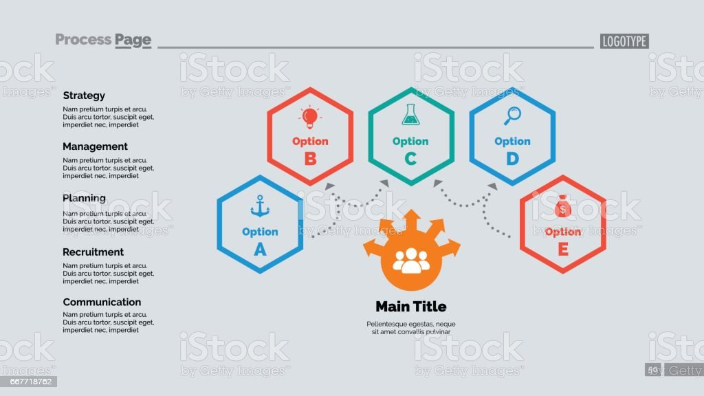 Four Options Teamwork Slide Template Stock Vector Art & More Images ...
