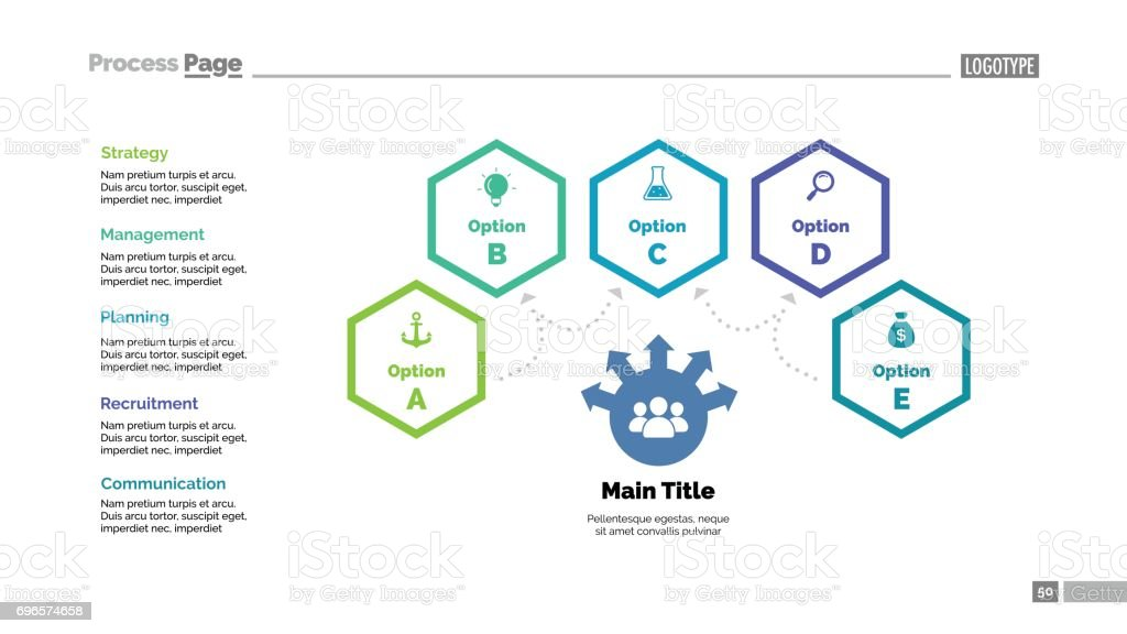 Four Options Teamwork Slide Template royalty-free four options teamwork slide template stock illustration - download image now