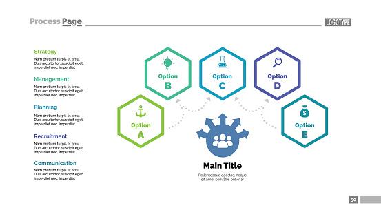 Four Options Teamwork Slide Template