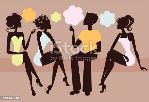 Four people talking.