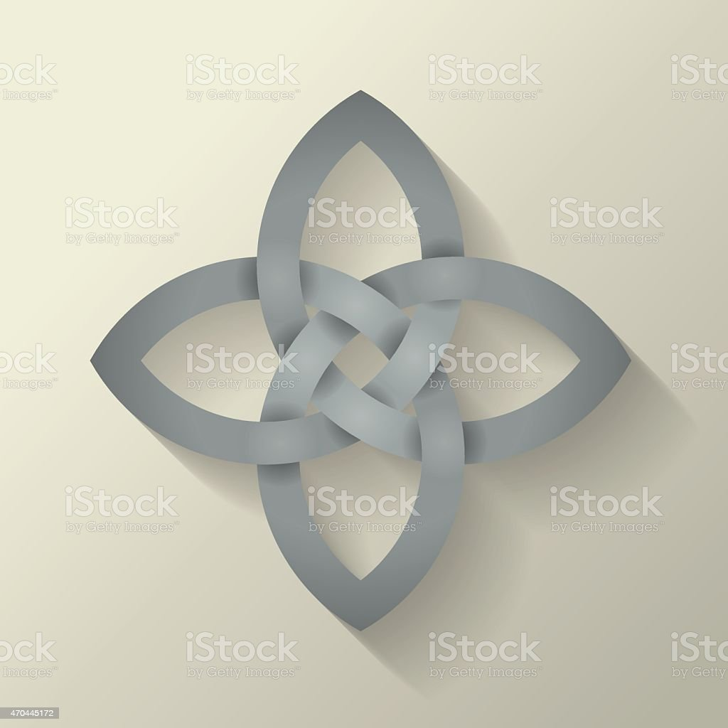Four Point Celtic Knot vector art illustration