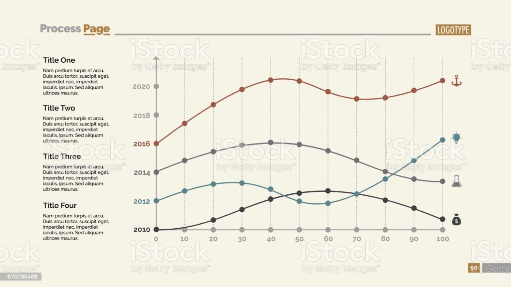 Four Point Charts Slide Template