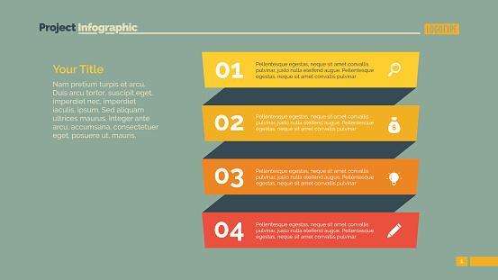 Four Point List Slide Template
