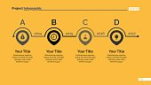 Process chart slide template. Business data. Graph, diagram. Creative concept for infographic, templates, presentation, report. Can be used for topics like planning, training.