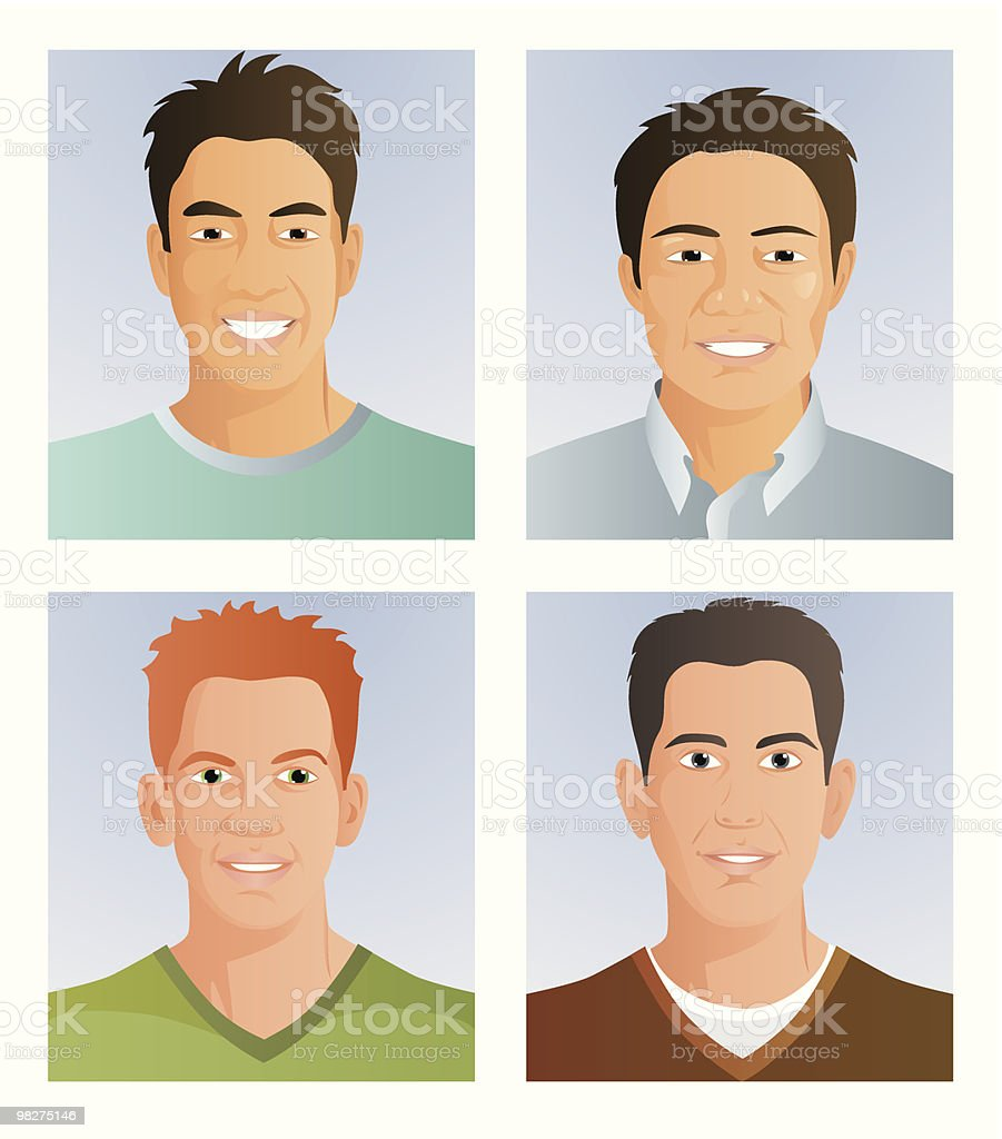Four portraits royalty-free four portraits stock vector art & more images of adult