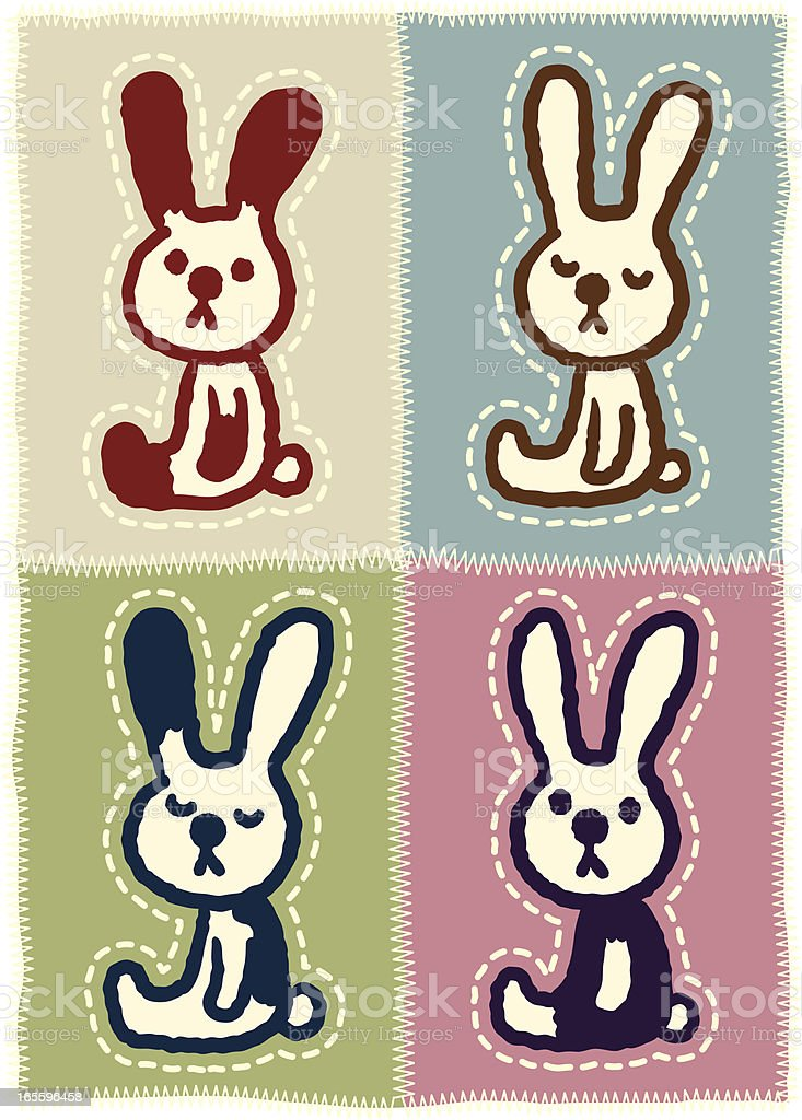 Four rabbits royalty-free four rabbits stock vector art & more images of animal