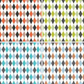 Four retro circus seamless pattern. Vector. Isolated.