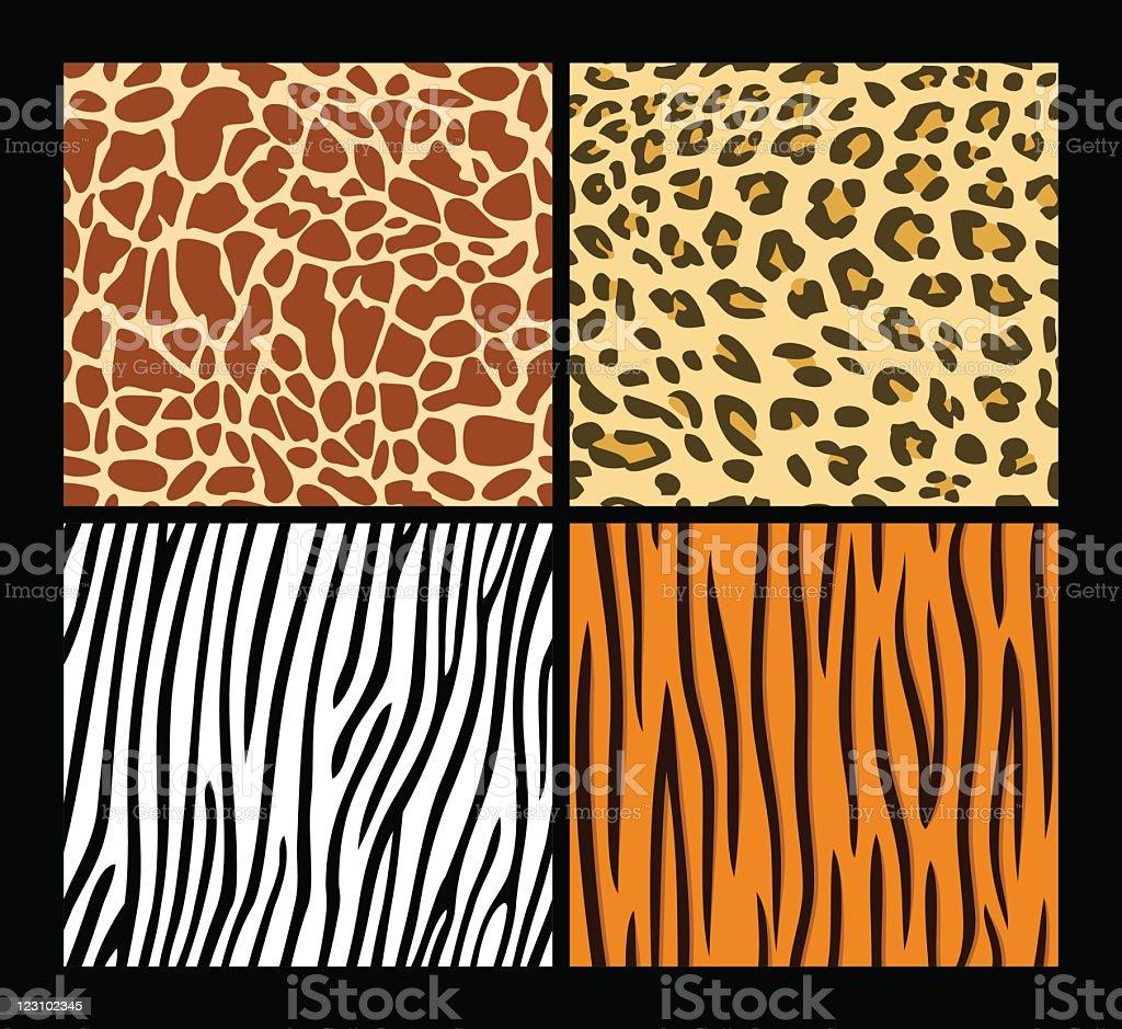シームレスなエキゾティックな動物の肌のパターン ベクターアートイラスト