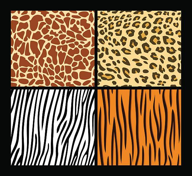ilustraciones, imágenes clip art, dibujos animados e iconos de stock de animales exóticos de patrones sin fisuras de la piel - textura de leopardo