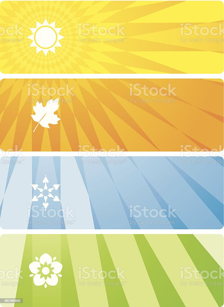 four season banners royalty-free stock vector art