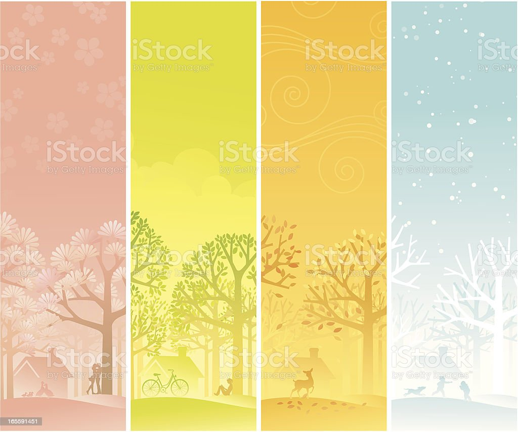 Four Seasons Banner vector art illustration