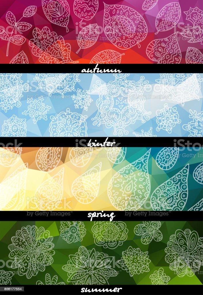 Four seasons horizontal banners.