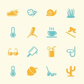 Four Seasons Icons Set 2 Color Series Vector EPS10 File.