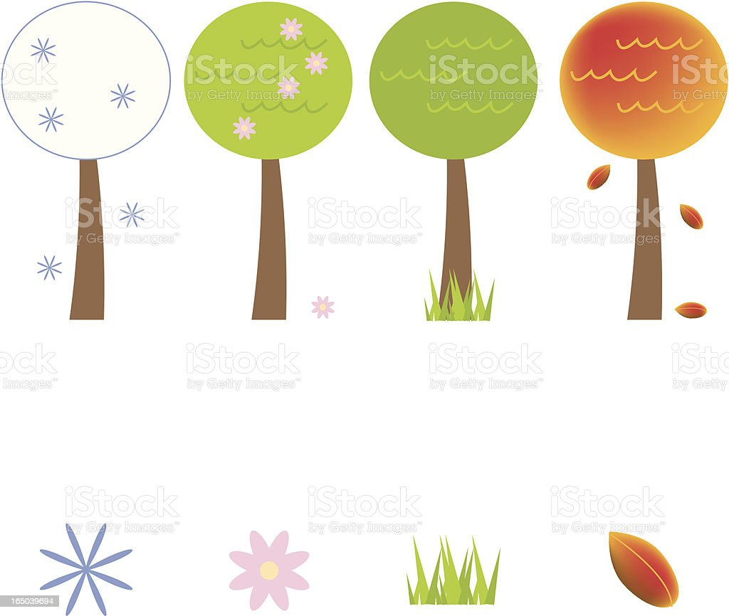 Four Seasons Icons royalty-free four seasons icons stock vector art & more images of autumn