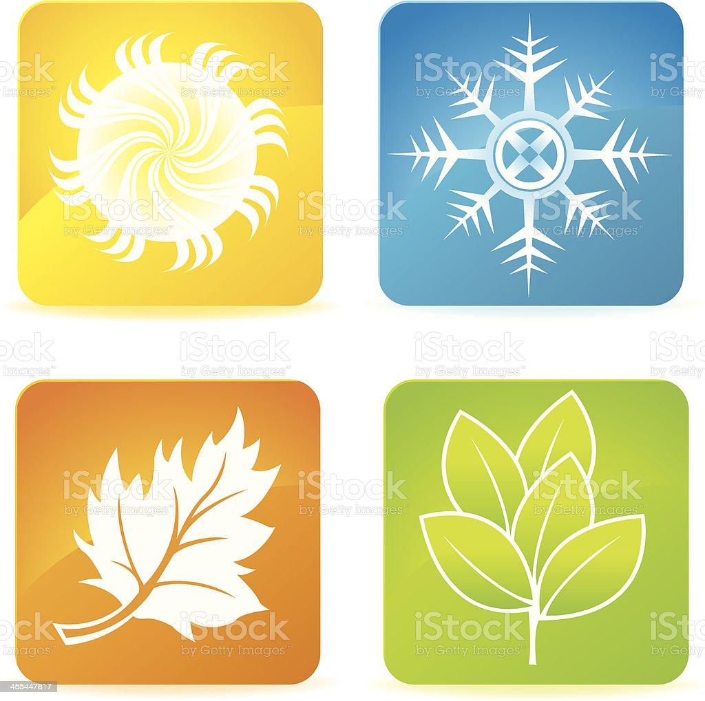 Quatre ic nes de saison dhiver printemps t automne cliparts vectoriels et plus d 39 images de - Printemps ete automne hiver et printemps ...