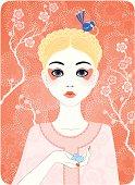 Four Seasons - Spring girl