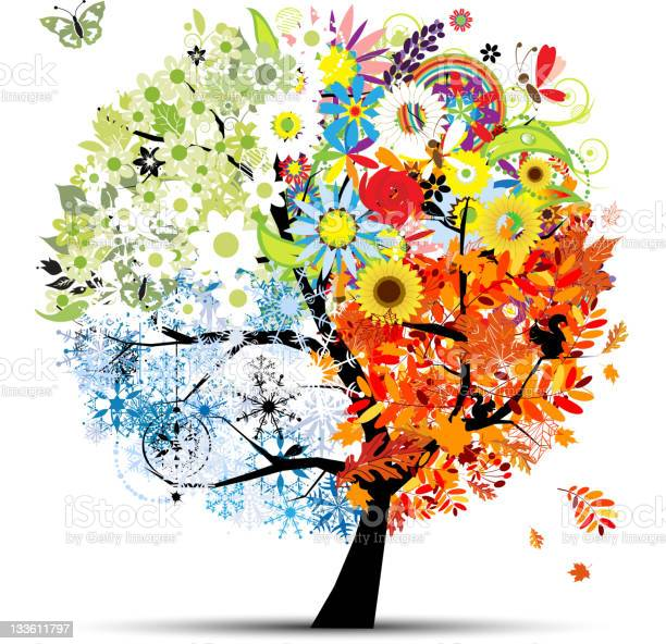 Four seasons spring summer autumn winter art tree beautiful vector id133611797?b=1&k=6&m=133611797&s=612x612&h=7rtkyl2a4kck1 jb7je4bbusl9iotwjyoslp3d7tyhy=