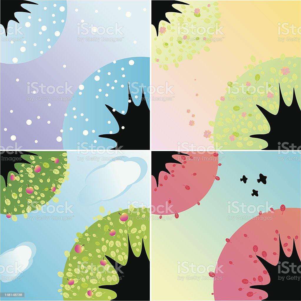 four seasons royalty-free stock vector art