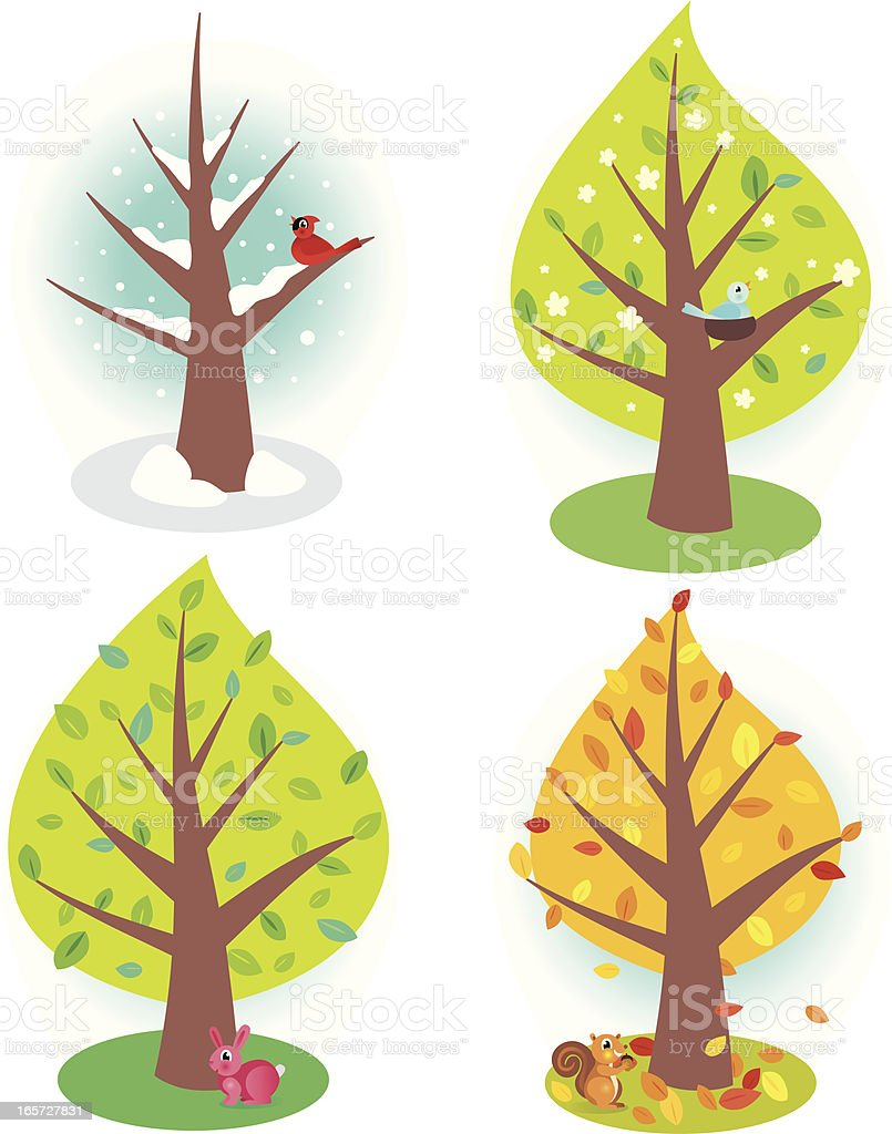 Four Seasons royalty-free four seasons stock vector art & more images of acorn