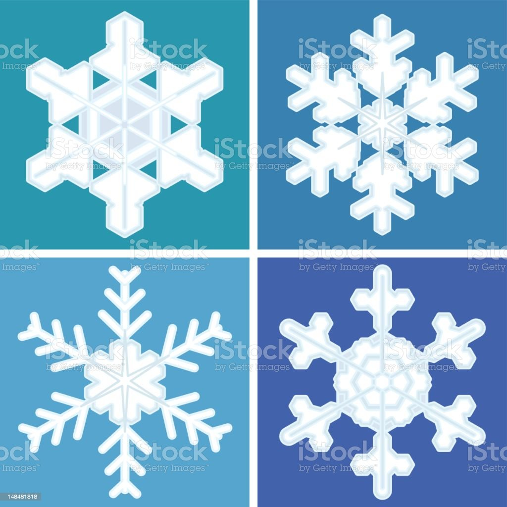 four snowflakes royalty-free stock vector art
