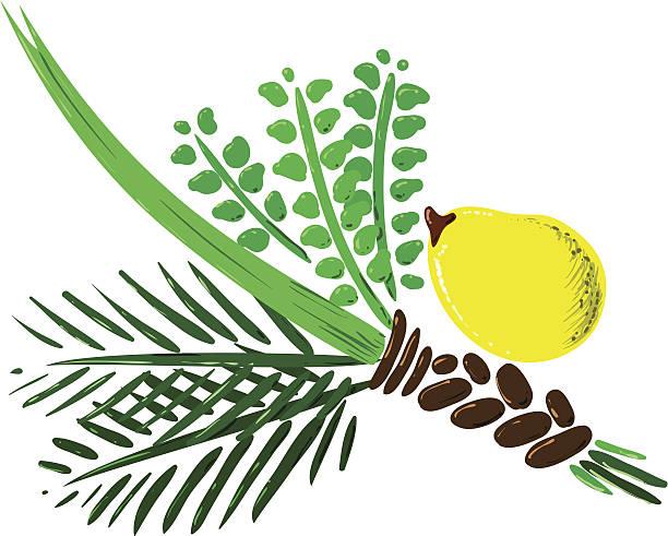 Four Species for Rosh Hashana Version 2 vector art illustration