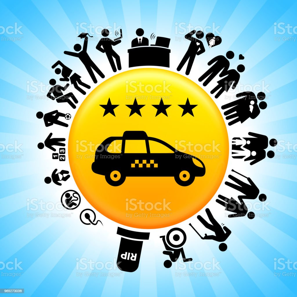 Four Star Taxi Lifecycle Stages of Life Background royalty-free four star taxi lifecycle stages of life background stock illustration - download image now
