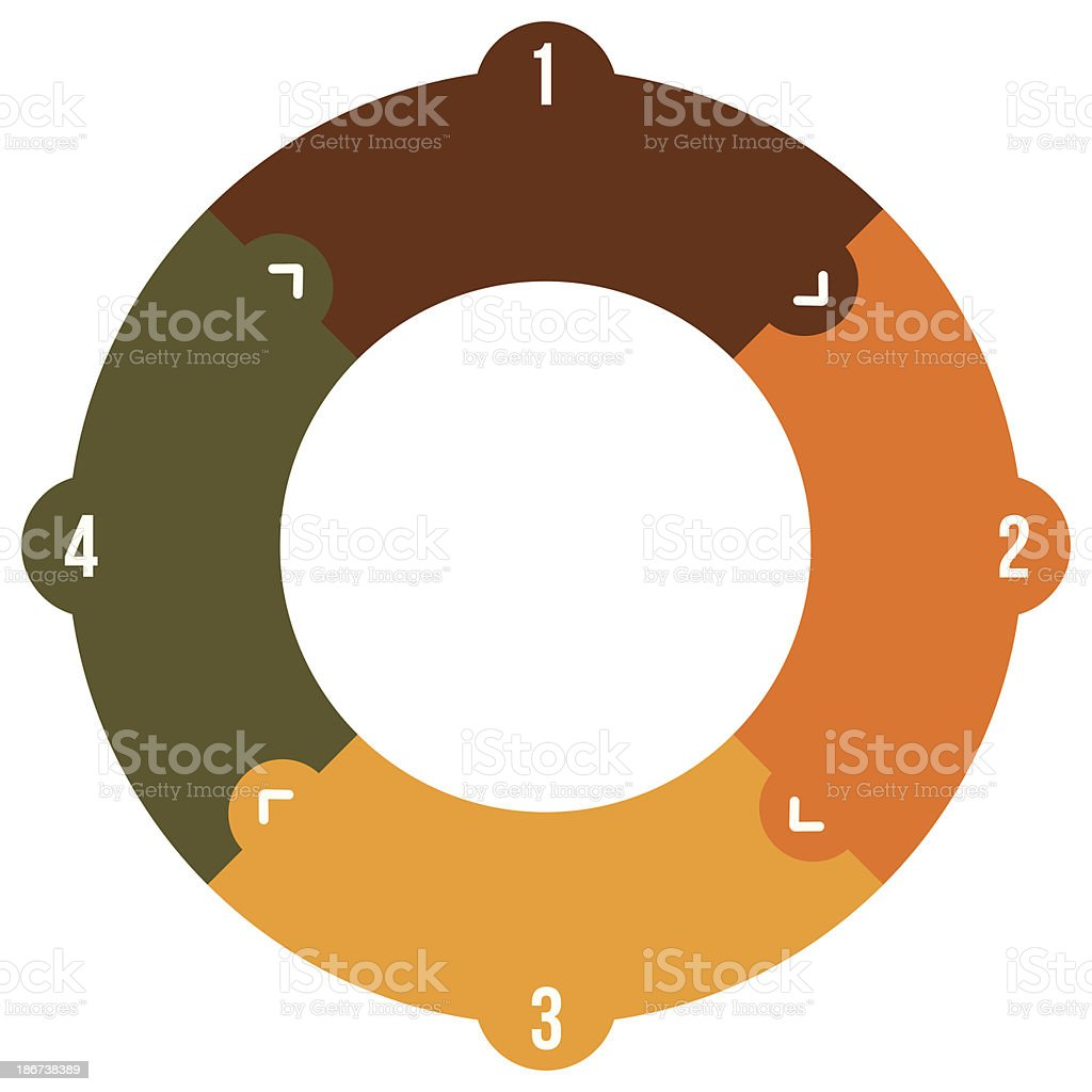 Four Step Spiral Chart royalty-free four step spiral chart stock vector art & more images of chart