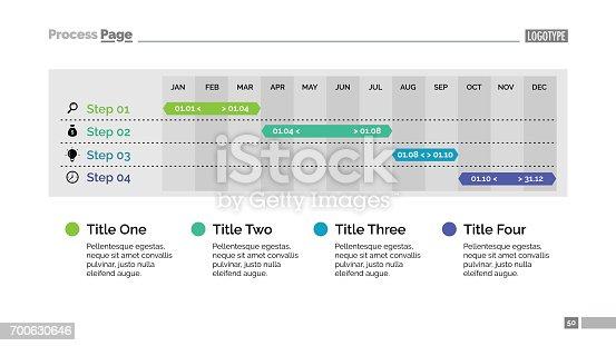 istock Four Steps Calendar Diagram Slide Template 700630646