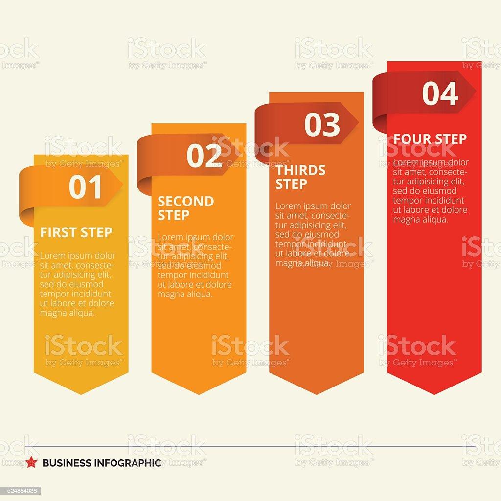 Four Steps Diagram Template vector art illustration