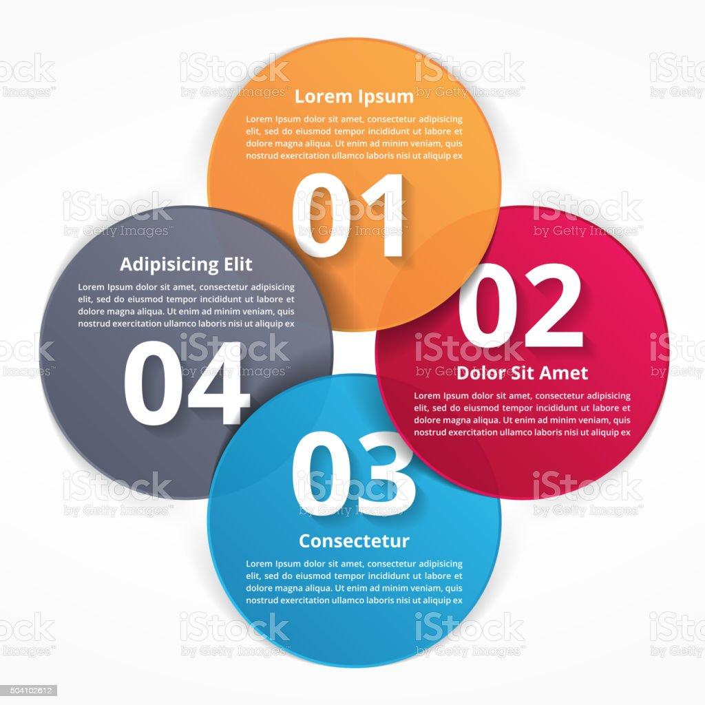 Four Steps Infographics vector art illustration