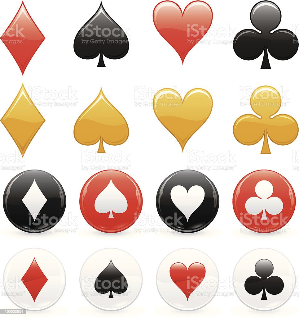 Four suits royalty-free stock vector art