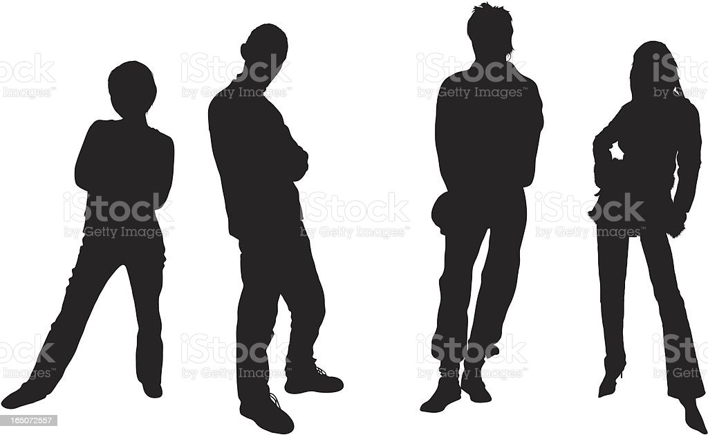 Four Tough People royalty-free four tough people stock vector art & more images of adult