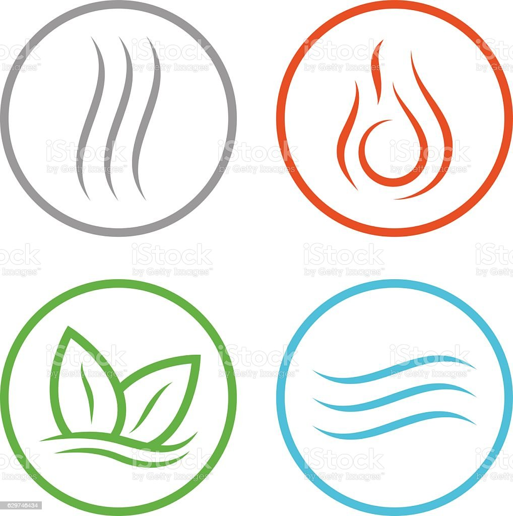 Four vector elements icons. vector art illustration