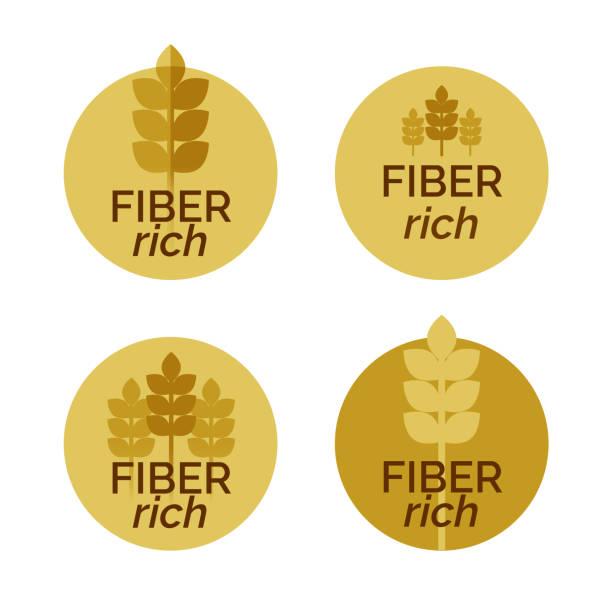 illustrations, cliparts, dessins animés et icônes de étiquettes riches de quatre vecteur fibre - fibre