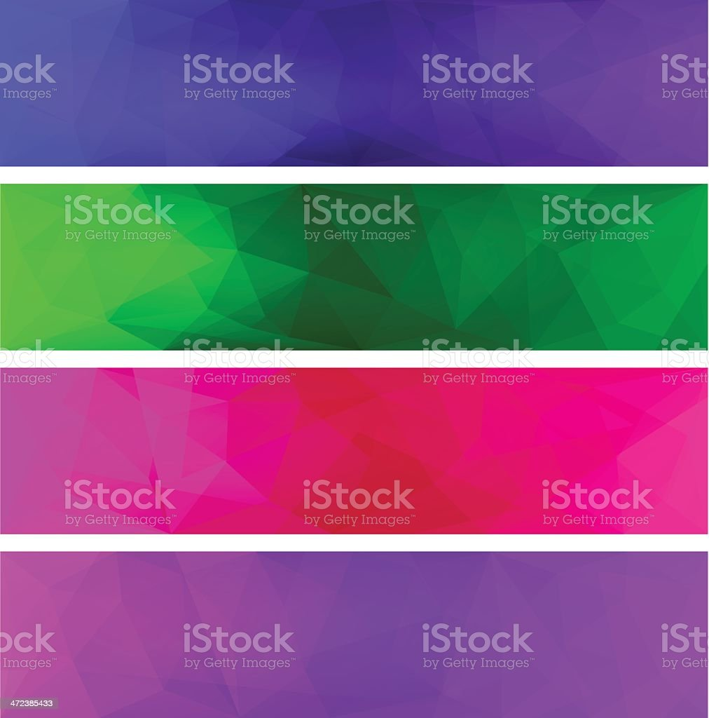 Four vector polygonal backgrounds for banner 5 royalty-free four vector polygonal backgrounds for banner 5 stock vector art & more images of abstract