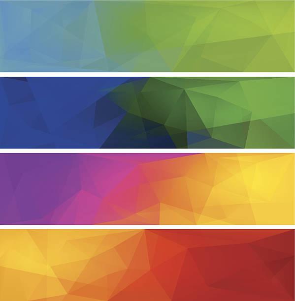 ilustrações, clipart, desenhos animados e ícones de quatro polygonal vetor de fundo para o banner. - planos de fundo coloridos