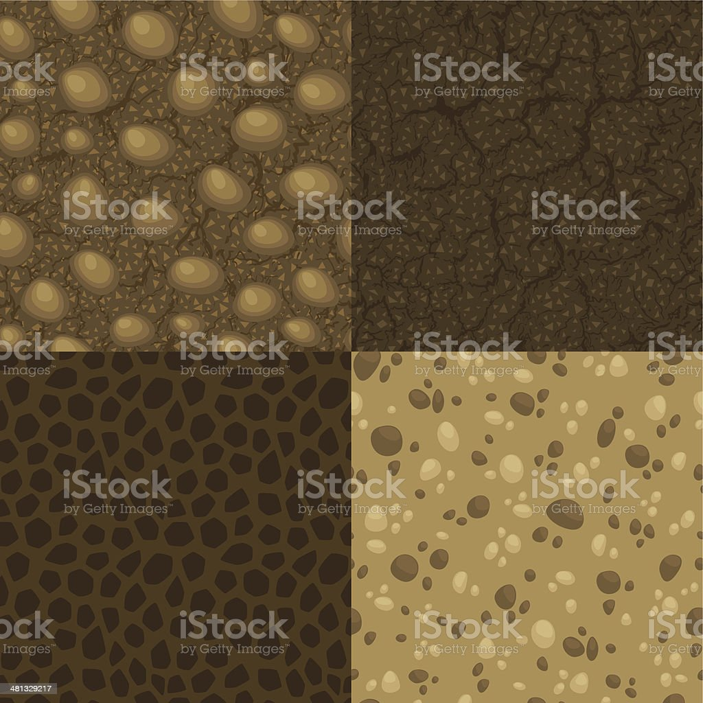Four vector seamless pattern of ground inside royalty-free stock vector art
