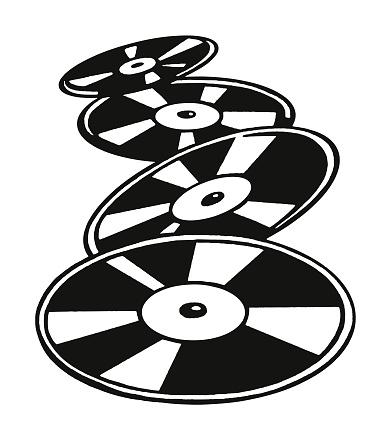 Four Vinyl Records