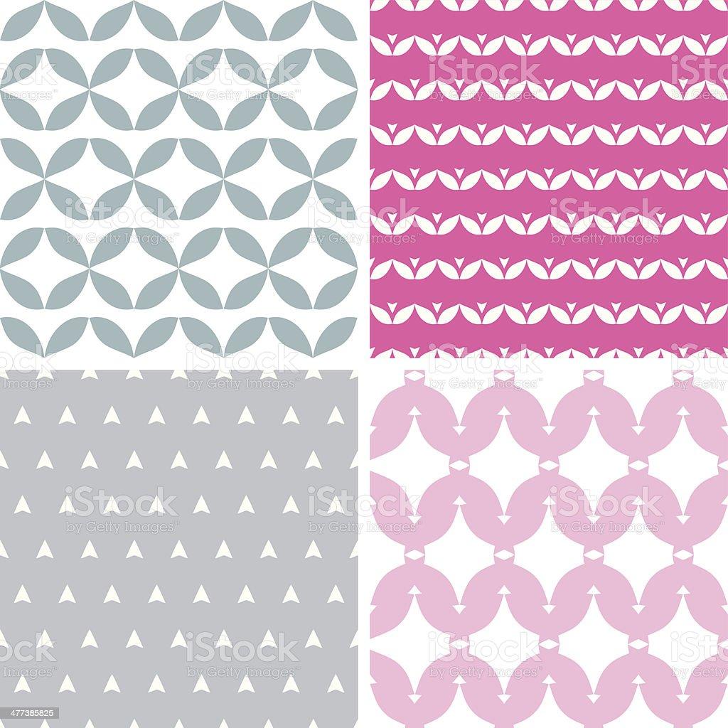 Quattro Ondulato Astratto Grigio Rosa Motivi Geometrici E Sfondi