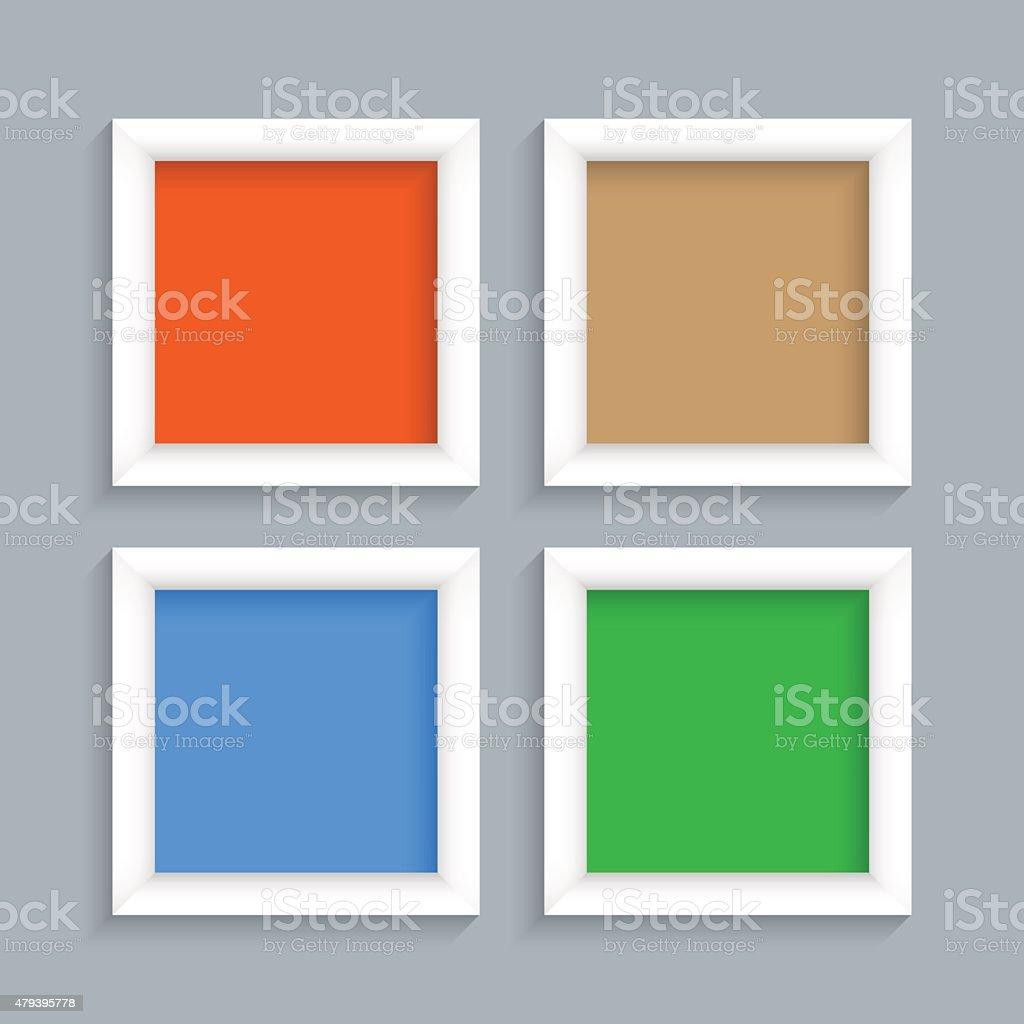 Bilderrahmen Modern vier weiße moderne bilderrahmen stock vektor und mehr bilder