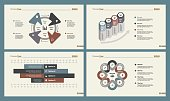 Infographic set can be used for workflow layout, diagram, annual report, presentation, web. Business and marketing concept with process and bar charts.