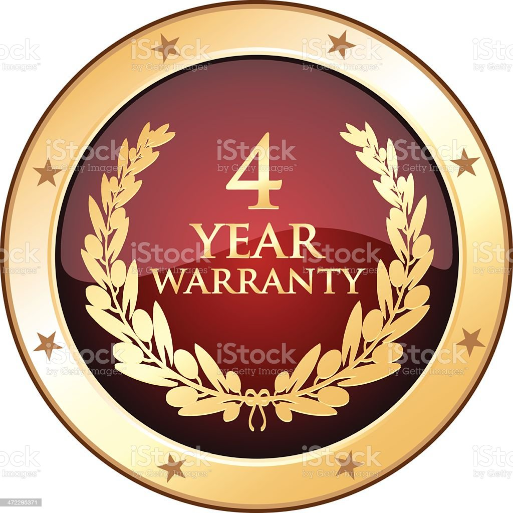 Four Year Warranty Shield royalty-free four year warranty shield stock vector art & more images of 4-5 years