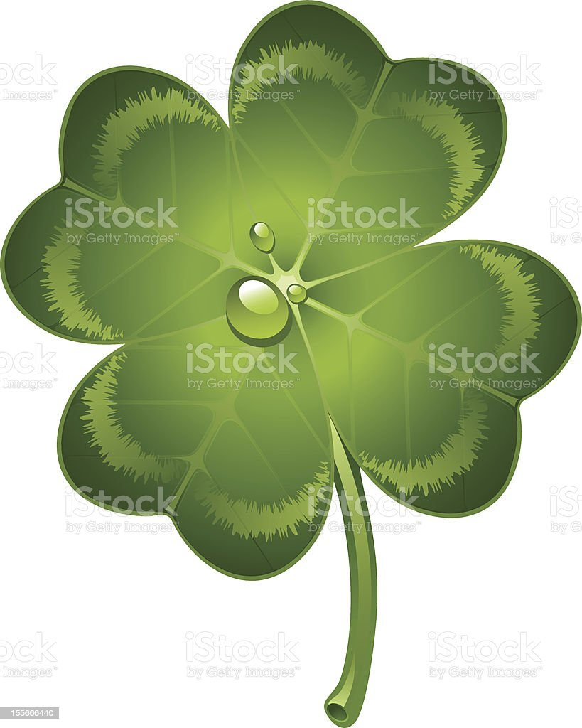 Four-leaf clover royalty-free fourleaf clover stock vector art & more images of clip art
