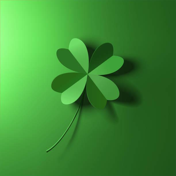 ilustrações de stock, clip art, desenhos animados e ícones de four-leaf lucky clover leaf vector illustration - wish