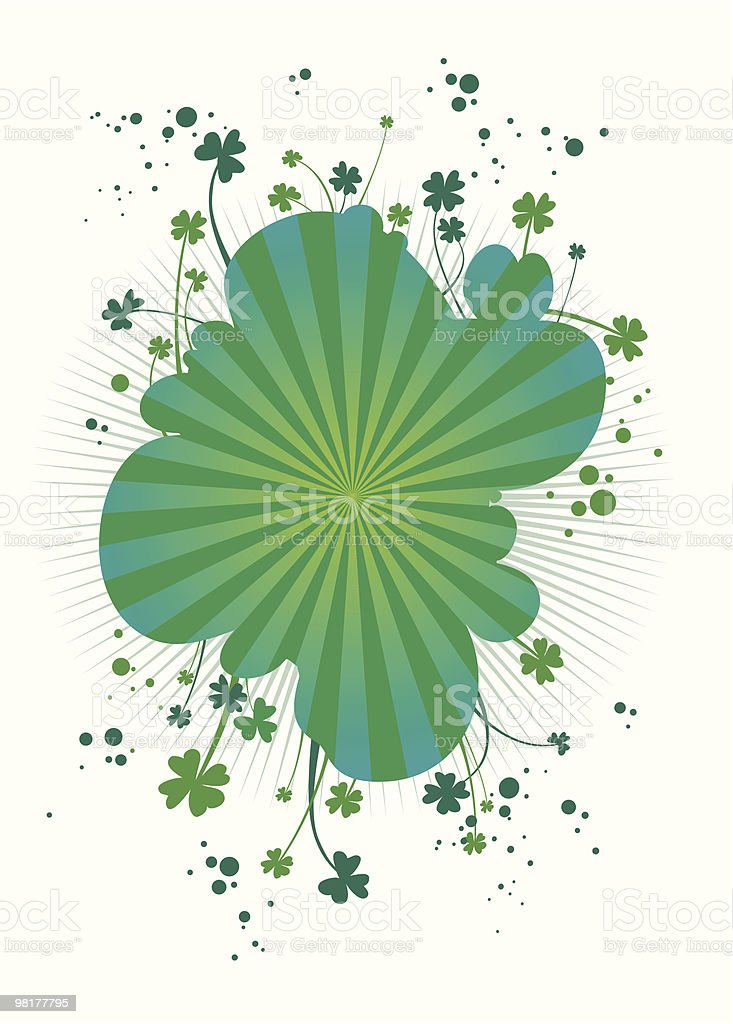 four-leafs clover background royalty-free stock vector art