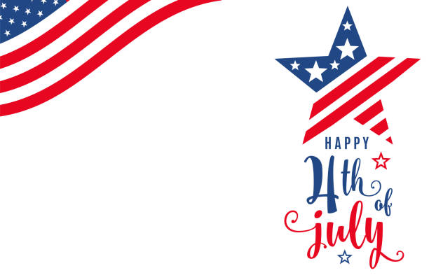 fourth of july. 4th of july celebration holiday banner - happy 4th of july stock illustrations