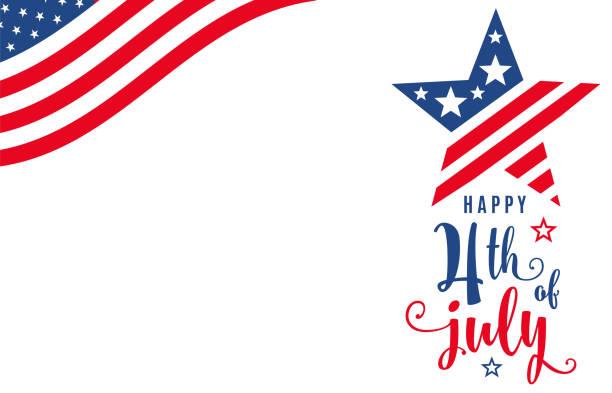 7月4日。7月4日慶祝節日橫幅 - happy 4th of july 幅插畫檔、美工圖案、卡通及圖標