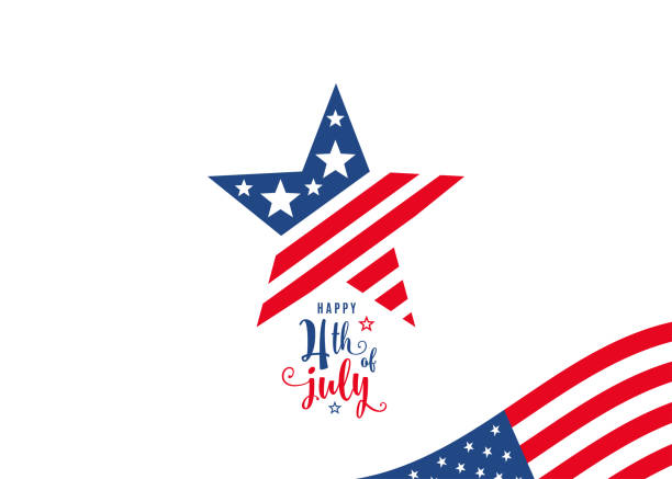 Fourth of July. 4th of July celebration holiday banner vector art illustration
